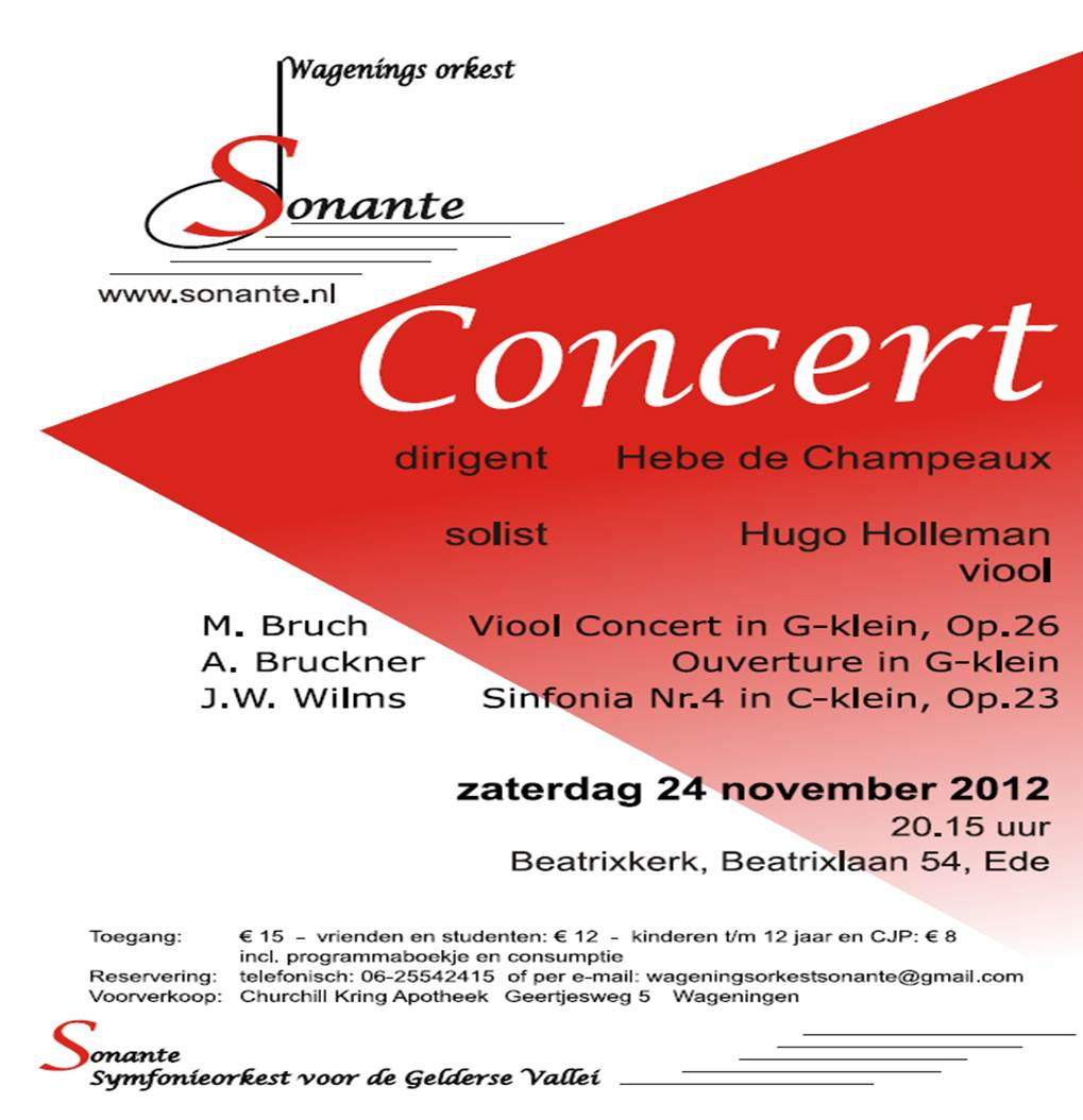 concert van Sonante op 24 november in Ede